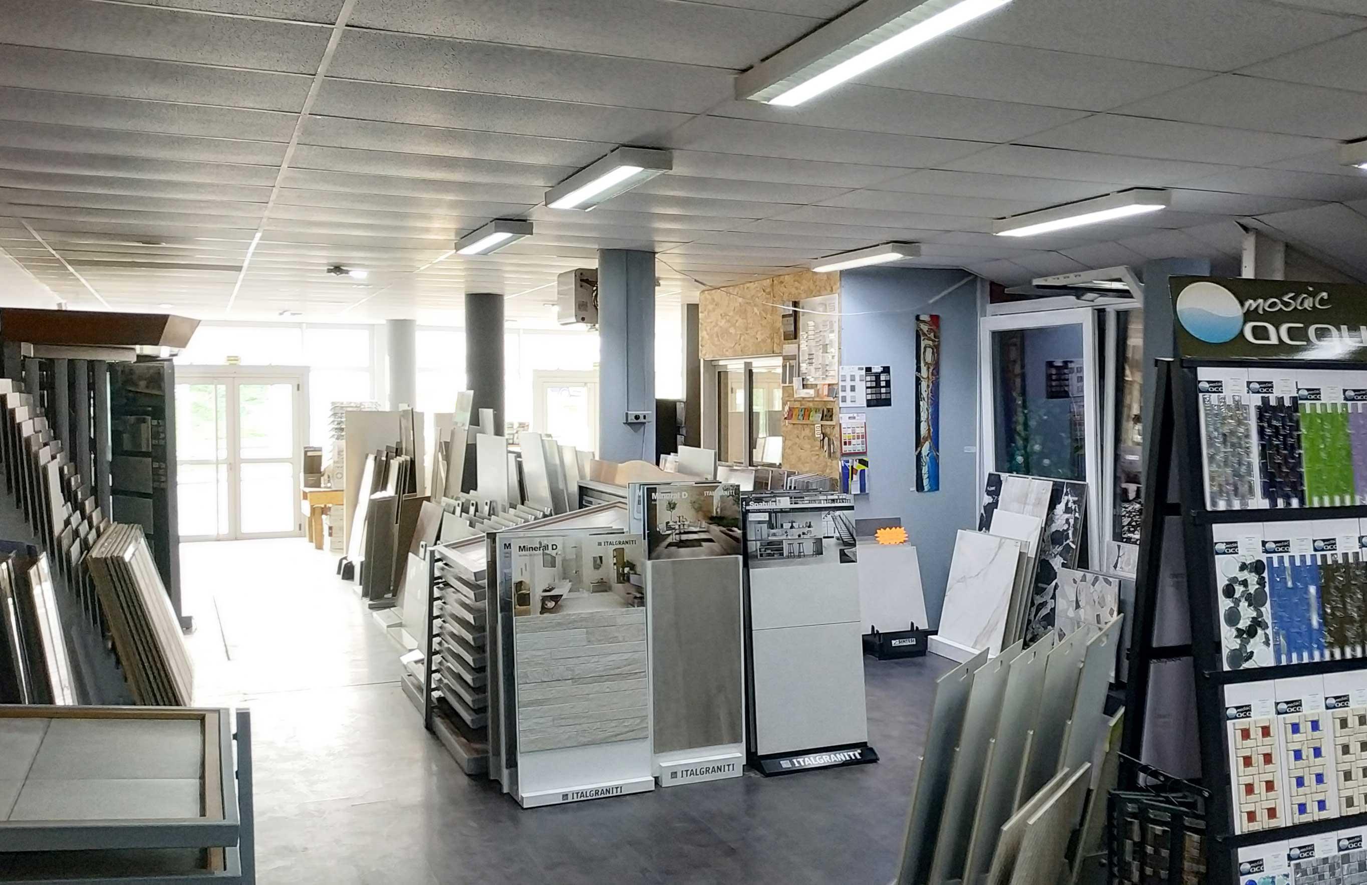 Intérieur de notre showroom près d'Épinal